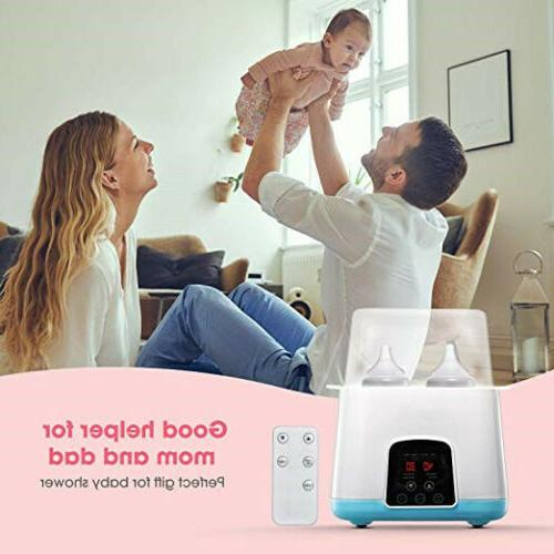 5in1 Baby Bottle Remote Control Steam Food