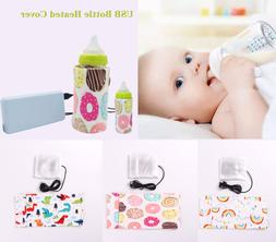 Portable USB Baby Bottle Warmer Travel Cup Heater Infant Mil